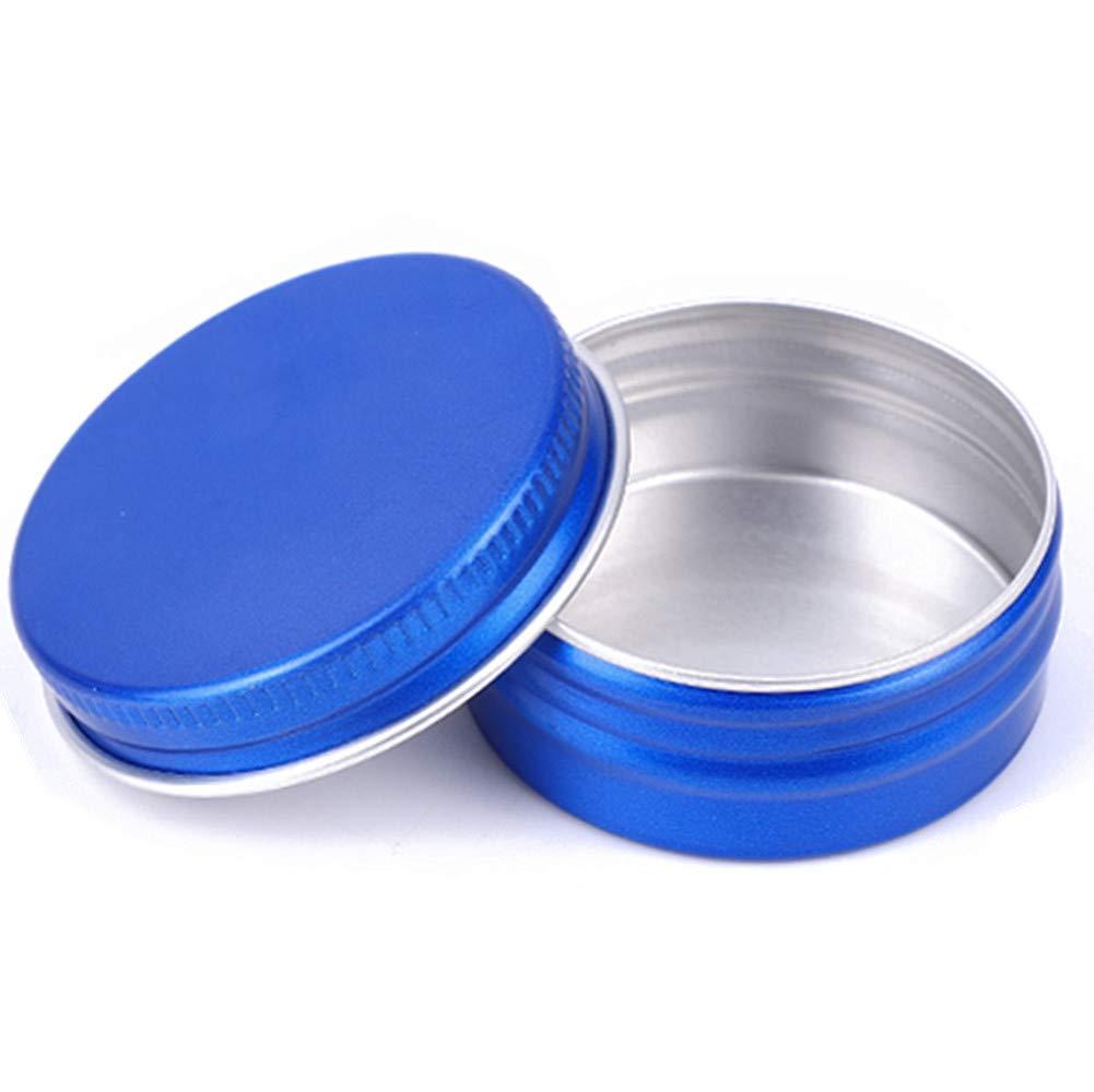 Blue 4 oz PET Jar w/aluminum cover with PVC mat 20pk Mini Jar