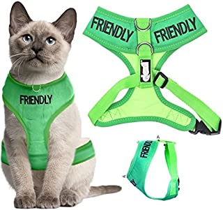 Dexil Color Coded Cat Harness Warning Alert Vest Padded and Water Resistant Let Others Know Your Cat in Advance