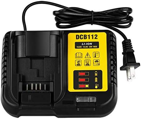 LUSAF DCB112 20V Battery Charger for Dewalt 12V 20V MAX DCB205 DCB206 DCB203BT DCB204BT DCB127 product image