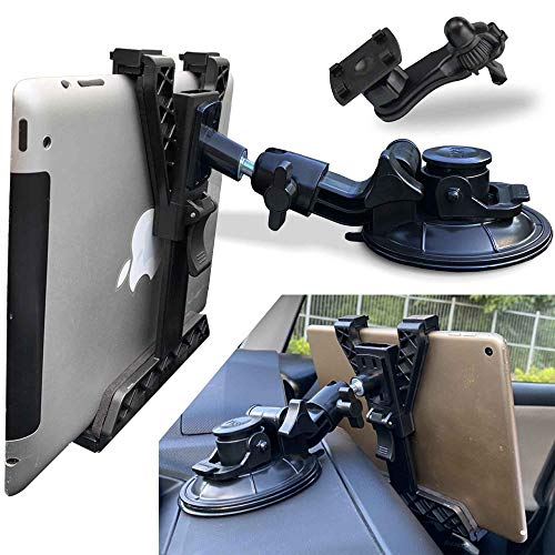 Randconcept 3-in-1 Tablet Holder Car Air Vent Mount - [ Strong Suction Cup Version ] Universal Dashboard Windshield Cradle for iPad, iPad Mini, Samsung Galaxy | Fits All 6'- 10.5' Tablets