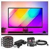 BTF-LIGHTING Monitor de PC de inmersión LED Backlights WS2812B IC LED Strip Para 13-24 pulgadas Sincronizar los colores...