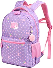 VBG VBIGER Girl School Backpack Water Resistant Elementary Dot School Bag with Chest Strap