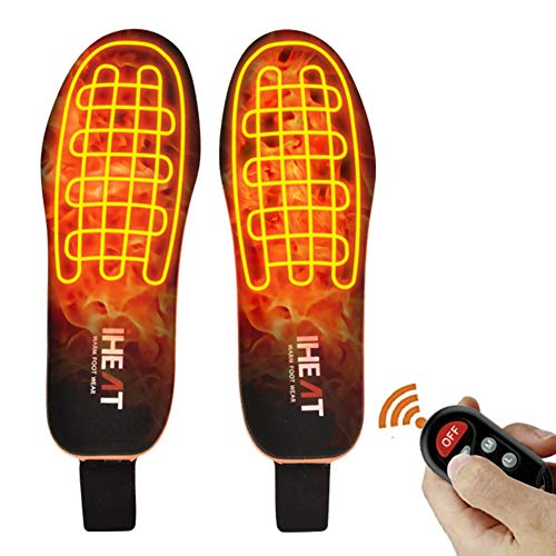 Heated Insoles Foot Warmers with Controller Rechargeable Lithium Battery Outdoor Work Ideal for Both Men and Women (Small)
