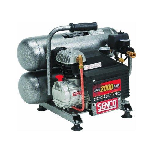 SENCO PC1131R 2.5 HP 4.3 Gallon Oil-Lube Twin Stack Air Compressor (Renewed)