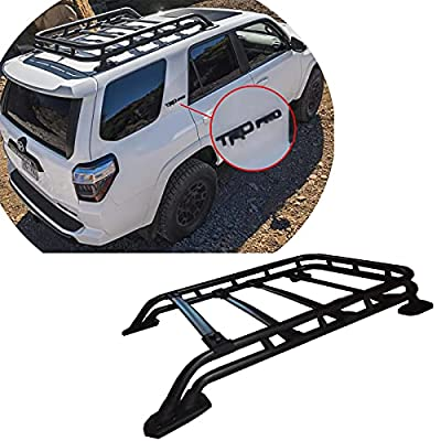 LOSTAR TRD PRO Style Roof Rack Rail Top Cargo Luggage Carrier for 2010 2011 2012 2013 2014 2015 2016 2017 2018 2019 2020 2021 Toyota 4Runner V6 4.0L