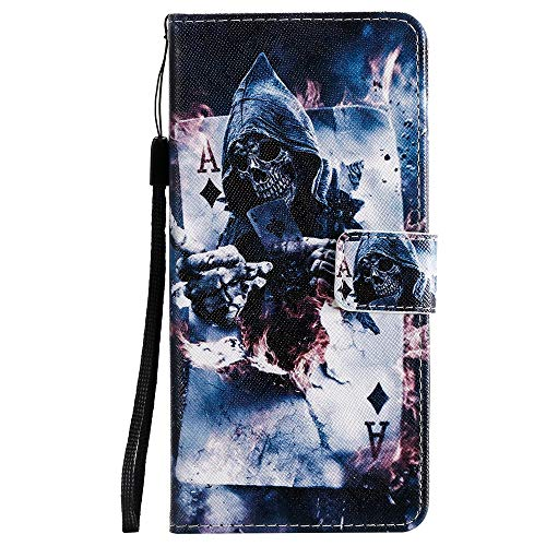 Sunrive Hülle Für Lenovo Moto G4 Play, Magnetisch Schaltfläche Ledertasche Schutzhülle Etui Leder Hülle Cover Handyhülle Tasche Schalen Lederhülle MEHRWEG(W18 Muster 1)