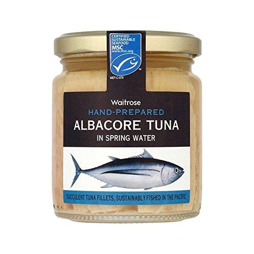 Weißer Thunfisch In Quellwasser Waitrose 220G - Packung mit 6