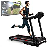 Sportstech F31 Professional Treadmill With Smartphone App Control MP3 AUX Bluetooth 4PS 16km/h - With Innovative Self-Lubrication Function - Foldable And Space-Saving Storage (F31)