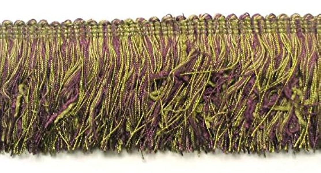 Expo International Chenille Cut Fringe Trim, 10 yd, Plum/Multicolor