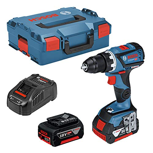 Bosch Professional Perceuse-visseuse sans fil GSR 18 V-60 C (18V, 2 batteries 5,0 Ah, Maximum 60 Nm, Mandrin de métal : 13mm, L-Boxx)