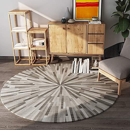 KK Zachary Nordic Modernen Minimalistischen Runden Bequemen Teppich Verdickung Computer Stuhl Drehstuhl Korb Matten Rutschig Weichen Wohnzimmer Schlafzimmer Studie Teppich (Size : 200)