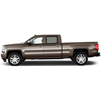 Abalone White TRICOAT GMC Sierra Dawn Enterprises FE-SIL19-CC Finished End Body Side Molding Compatible with Chevrolet Silverado GE8//GP5//GP6