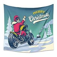 タペストリータペストリーの装飾,クリスマスのテーマツリーサンタクロースエルクギフトクリスマスパーティー写真背景写真の背景装飾写真スタジオの小道具-C_130x150CM