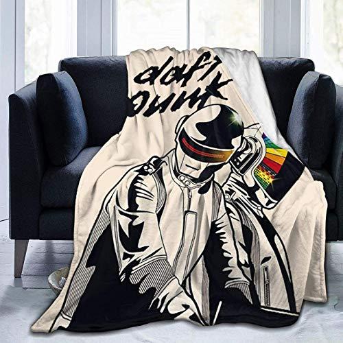 shenguang Daft Punk Band Decke Ultra-Soft Flanell Fleece Leichte Warm Fit Bett Couch Büro Flug und im Freien