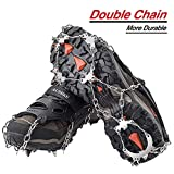AUHIKE Ice Cleats Crampons Traction Snow Grips for Boots Shoes Women Men Kids