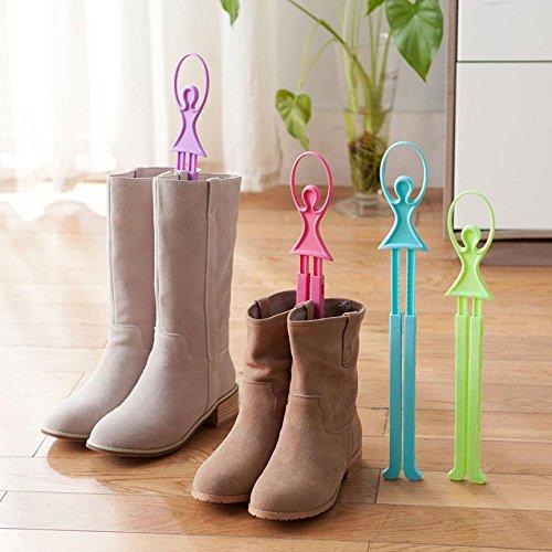 Generic Color morado: zapatero escalable para niña de ballet, zapatos de árbol de mesa, botas largas, carpeta Wonderful2.09