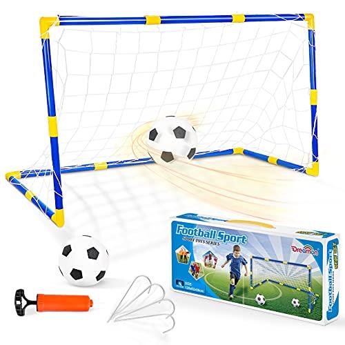 Zestaw bramek do piłki nożnej dla dzieci Dreamon z bramką i pompką Piłka nożna interaktywne zabawki Sportowa zabawa w ogrodzie Indo