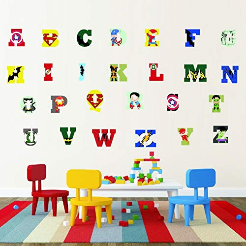 Animal 26 Lettres Alphabet Stickers Muraux Pour Enfants Chambres Nursery Room Decor Sticker Art Affiche Cadeau Mural