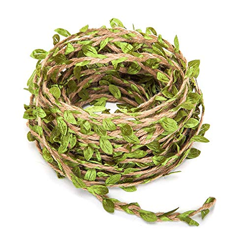 OVBBESS Guirnalda de hojas artificiales, 20 m, follaje rústico, decoración de follaje artificial para jardín o boda