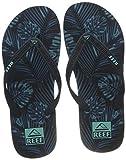Reef Herren Seaside Prints Flipflop, Navy Palm, 45 EU