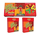Beanboozled Jelly Beans Fiery Five Challenge Spinner Gift Box 3.5 Oz. and Two Flip Top Refills 1.6 Oz Each (3 Pack)