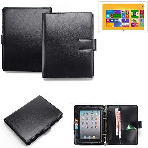 K-S-Trade® Organizer Und Tablet-Hülle-Kombination Für Kiano Intelect 8.9 MS 3G Mit Ringbucheinlage Schwarz. Kunstleder Qualitätsware (1x)