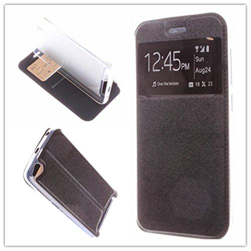 Misemiya–Custodia Xiaomi Redmi 5A–Custodia + Protector Vetro temperato, Cover Magnete Sport Supporto, Nero