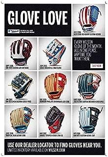 Yilooom Wilson Baseball Love Glove Replica Metal Sign 7