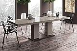 Design Esstisch Tisch HE-111 Cappuccino - Nussbaum Hochglanz ausziehbar 160 bis 260 cm