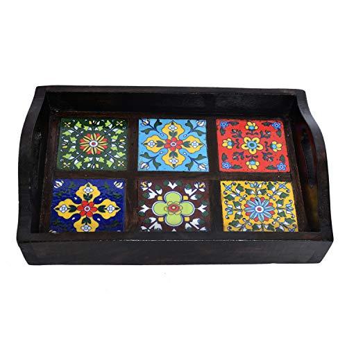 Jaipur Crafrafts Hub en Bois torché rectangulaire Table Basse pour Petit déjeuner