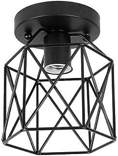 KUOZEN Lampara Vintage Colgante Lamparas Colgantes De Techo Modernas Lámpara Luz Tonos Sombras de luz Sala de Estar Cortina de luz de Techo Black