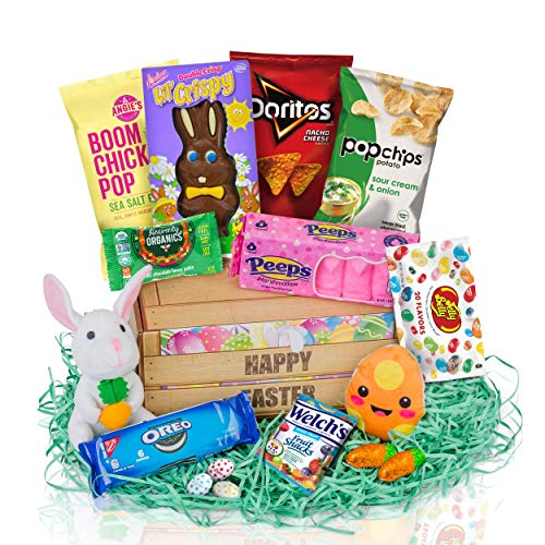 Prefilled Easter Baskets For Kids - Easter Baskets For Teens -Filled Easter Baskets For Adults Are Cherished By Young and Old. Our Easter Gift Basket Brings Delight to All. from Charmed Crates