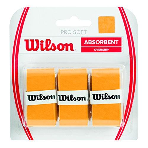 Wilson Unisex Griffband Pro Soft Overgrip, gold, 3 Stück, WRZ4040GO
