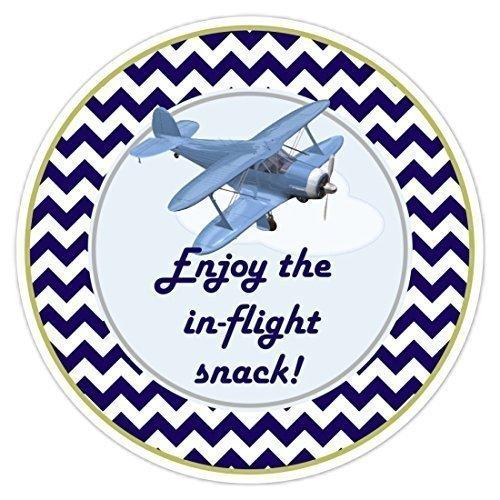Sandy66Twain Verjaardagslabels, Luchtvaart Vliegtuig Verjaardagstickers, In vlucht snack Verjaardagslabels, Vliegtuig Baby Douche, Luchtvaart Douche Stickers