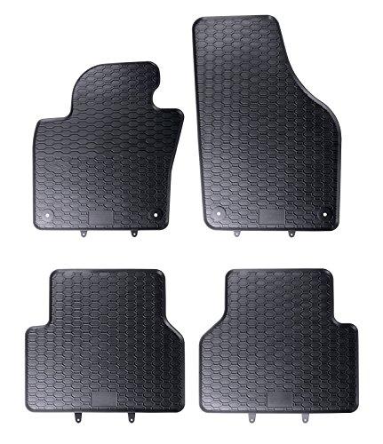 DAPA Prime Gummimatten Gummi Fußmatten Komplettset Schwarz perfekt passend mit Rand 1103458