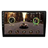 Autoradio Bluetooth Android 8.1, 2 DIN Autoradio con Schermo e GPS Navigatore 9/10.1 Pollici Car Stereo Player Supporto USB/SWC/WiFi/Radio FM,Nero,10.1inch