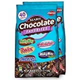 SNICKERS, TWIX, 3 MUSKETEERS, MILKY WAY & MILKY WAY Midnight Minis Size Chocolate Candy Bars Variety Mix, 40-Ounce Bag (Pack of 2)
