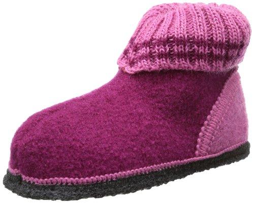Beck Unisex-Kinder Ötzi Hausschuhe, Pink (bordeaux), 25 EU