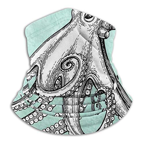 SARA NELL Octopus Ink Sketch Neck Gaiter Headwear Face Sun Mask Magic Scarf Bandana Balaclava Headband For Men Women Cycling Fishing Motorcycling Running Skateboarding