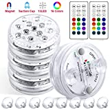 4 Luces Sumergibles piscina 16 Colores 13LED , StillCool Luz Impermeable con...