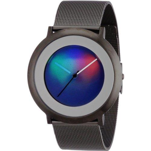 Colour Inspiration, Unisex Armbanduhr Quarz, Serie ONE Light M, IP Titan 40 mm rundes Edelstahlgehäuse Armband:Edelstahl Milanese und Clip-Verschluß, Armband:20 mm