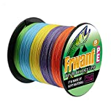 Frwanf Braided Fishing Line 8 Strands Super Strong PE Fishing String ExtremePower Fishing Braid Line for Saltwater and Fresh Water 80LB Test 500M/547Yards Multi-Color