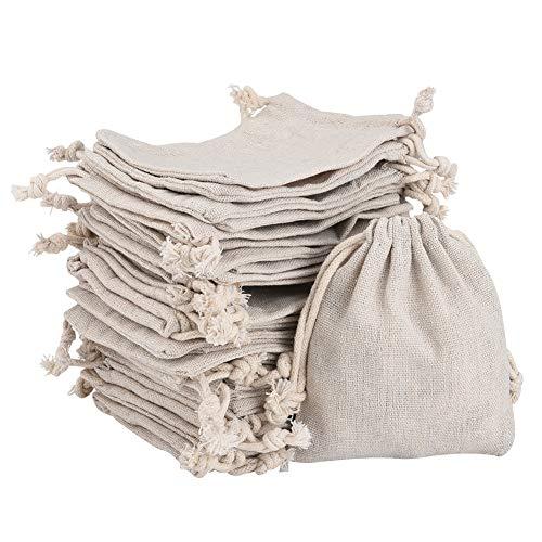 Irich Baumwolle Kleine Beutel mit Kordelzug, Schmuckbeutel Geschenk Säckchen, Jutebeutel für Hochzeit Haus Lieferungen Handwerk Mitbringsel (30 Stücke, 10 * 12CM/ 3,94 * 4,72 Zoll)