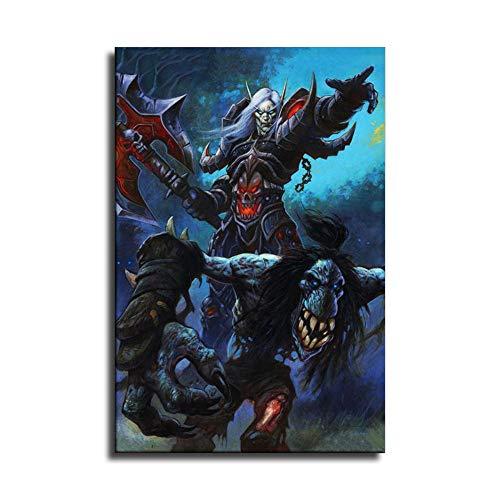 World of Wow Death Knight Horde Game Leinwand-Kunst-Poster und Wand-Kunstdruck, modernes Familienschlafzimmerdekor-Poster
