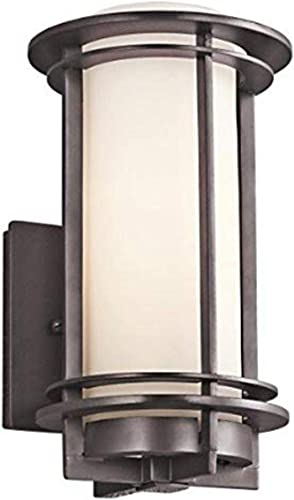2021 Kichler 49344AZ, Pacific Edge Aluminum online Outdoor Wall Sconce Lighting, 75 Watts, lowest Architectural Bronze,14.75-Inch outlet online sale