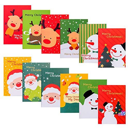 cuadernos navideños 30 piezas Mini blocs de notas Bloc de notas de bolsillo Steno Cuadernos Diario para niños Adultos...