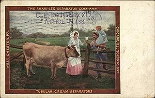 Vintage Advertising Postcard: The Sharples Separator Company Athol, Massachusetts