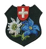 Trend-Promotion Austria–Suiza escudo–Parche para planchar bordados Patch aprox. 5,2x 5,5cm
