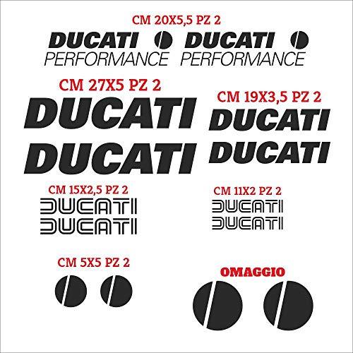 Juego de adhesivos Ducati Performance cortados individualmente, adhesivos compatibles, kit de pegatinas personalizadas de color