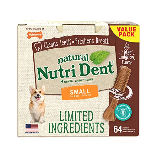 Nylabone NutriDent Natural Dental Chew Treats...